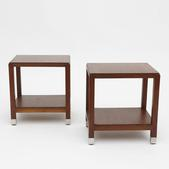 image In the style of Eyre de Lanux - Pair of end tables