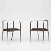 image French Modernism - Pair of Modernist Chairs / SOLD