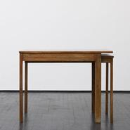 image Robert Mallet-Stevens - Cerused Oak Side Table / SOLD