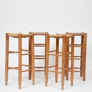 image Charlotte Perriand - Set of 4 Bar Stools