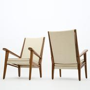 image Jacques Adnet - Pair of armchairs / SOLD