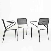 image Mathieu Mategot - Set of 3 chairs / SOLD