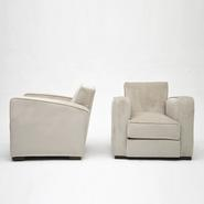 image Jacques Adnet - Pair of club armchairs