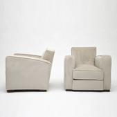 image Jacques Adnet - Pair of club armchairs / SOLD