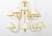 image Jean Royère - Gold leave Plated Chandelier / SOLD