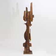 image Ricardo Santamaria - High Wooden Sculpture / SOLD