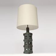 image Suzanne Ramié (MADOURA) - Ceramic table lamp / SOLD