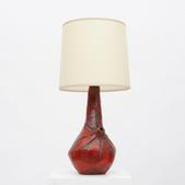 image French 1950 - Red table lamp