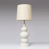 image French 1950 - Ceramic Table lamp / SOLD