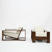 image In the style of Jean Royére - Pair of lounge chairs / SOLD