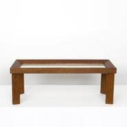 image Jean Royère - Wood & Parchment Coffee Table / SOLD