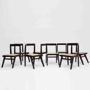 image Pierre Jeanneret - Set of 8 demountable chairs