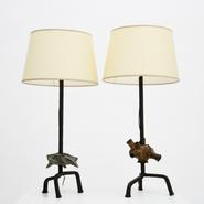 image Paul de Ghellinck - Pair of industrial table lamps