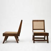 image In the style of Pierre Jeanneret - Pair of chairs / SOLD