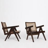 image Pierre Jeanneret - Pair of armchairs / SOLD