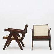 image Pierre Jeanneret - Pair of Lounge Chairs / SOLD