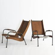 image Jean Prouvé - Pair of Visiteur armchairs / SOLD