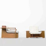 image French Modernism - Pair of Modernist Armchairs / SOLD