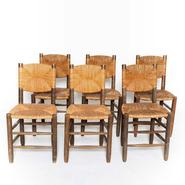image Charlotte Perriand - Set of 6 Rush Chairs / SOLD