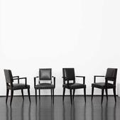 image Jean Pascaud - Set of four Armchairs