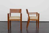 image Jean Royère - Pair of Oak Chairs