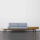 image Charlotte Perriand - Bench with Drawer and Side Table / SOLD
