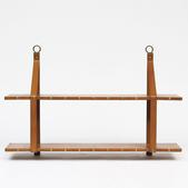 image Attributed to Jacques Adnet - Leather bookshelf