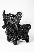 image Forrest Myers - Black Wingback Chair