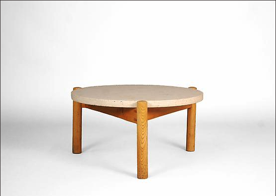 Strange Charlotte Perriand Coffee Table With Travertine Top Sold Ocoug Best Dining Table And Chair Ideas Images Ocougorg