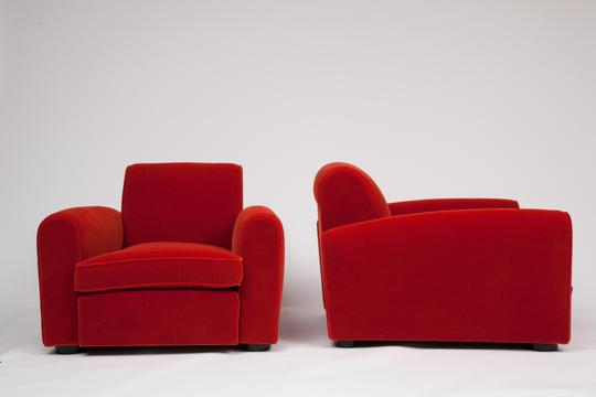 Jean Royère   Pair Of Red Armchairs / SOLD