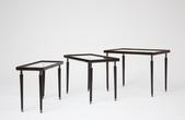 image Jacques Adnet - Metal Nesting Tables / SOLD