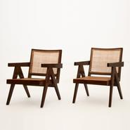 image Pierre Jeanneret - Pair of Easy Armchairs