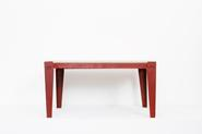 image Jean Prouvé & Jules Leleu - Coffee Table with Red Legs / SOLD