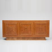 image Jacques Adnet - Cherry Wood Veneer Sideboard / SOLD