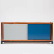 image André Sornay - Blue and White Sideboard / SOLD