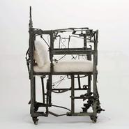 image Sylvain Contini - Metal sculptural armchair