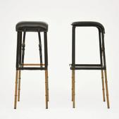 image Jacques Adnet - Pair of bar stools