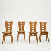 image Henry Jacques Le Même - Set of 4 chairs