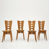 image Henry Jacques Le Même - Set of 4 chairs