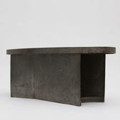 image French 1970 - Brutalist metal coffee table