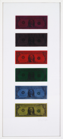 <i>Untitled (Dollar Bills)<i/>, 1973