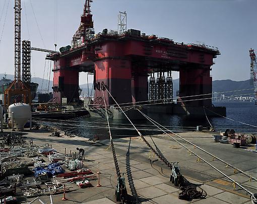 <b>Semi Submersible Rig DSME Shipyard, Geoje Island</b>, 2007 Image