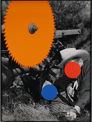 <b>Radial Saw (Orange): With Two Person Fight (Blue and Red)</b>, 2004 Image