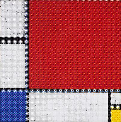 Mondrian's Composition Grid Red, 2011 Image