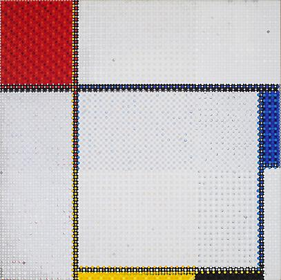 Mondrian's Composition Grid White, 2011 Image