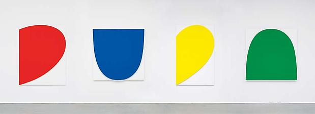 Curves on White (Four Panels), 2012 Image