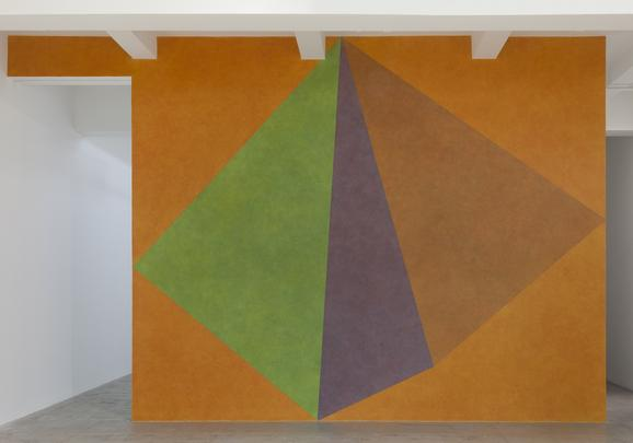 <i>Wall Drawing #459, Asymmetrical Pyramid with Color ink washes superimposed</i>, 1985 Image