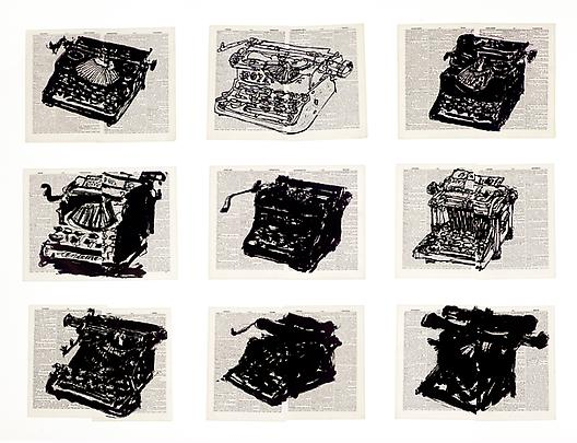 <i>Universal Archive (Nine Typewriters)</i>, 2012 Image