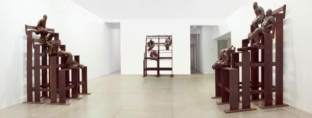 <i>Thirteen Laughing at Each Other</i>, 2001 (installation view) Image