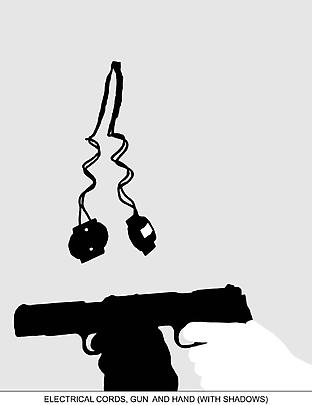 <b>Sediment (Part Two): Electrical Cords, Gun and Hand (With Shadows)</b>, 2010 Image